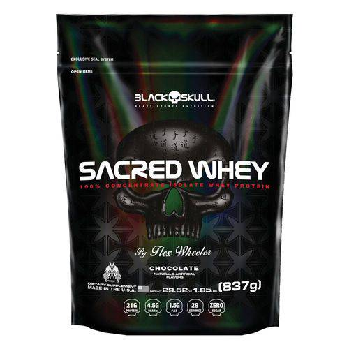 Sacred Whey Refil 837G - Black Skull - Chocolate