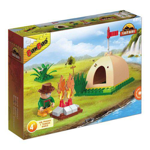 Safari Mini Acampamento 46 Peças - Banbao
