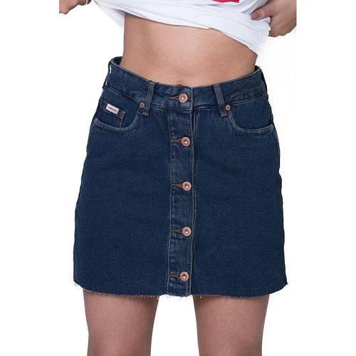 Saia Ck Jeans Five Pockets Marinho Mulher