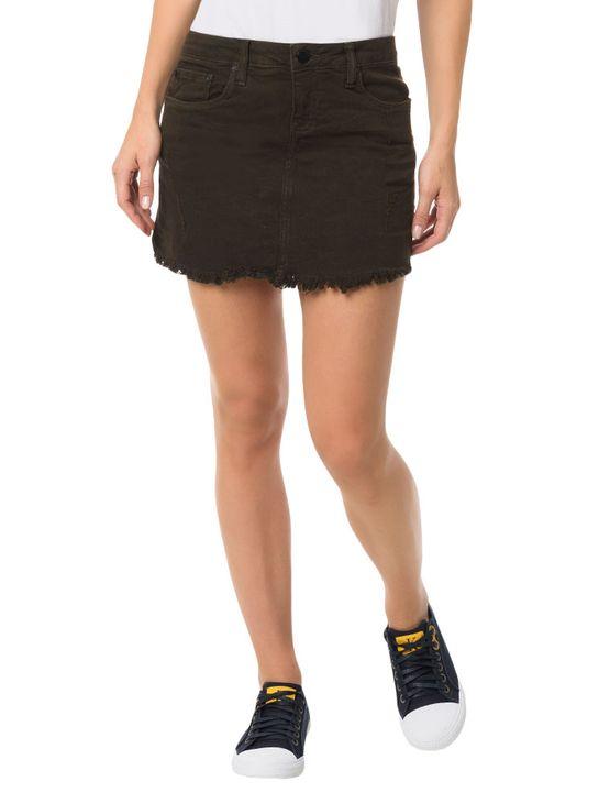 Saia Color Calvin Klein Jeans Five Pockets Militar - 42