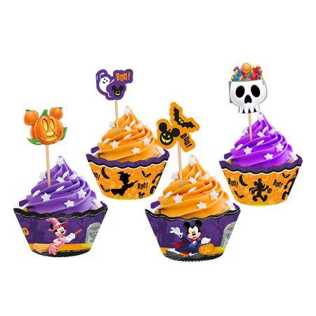 Saia Cupcake C/ Enfeite Halloween Disney Saia para Cupcake com Enfeite Halloween Disney - 12 Unidades