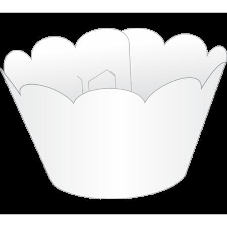 Saia para Cupcake Branca - 12 Unidades