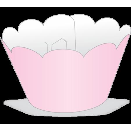 Saia para Mini Cupcake Rosa - 12 Unidades