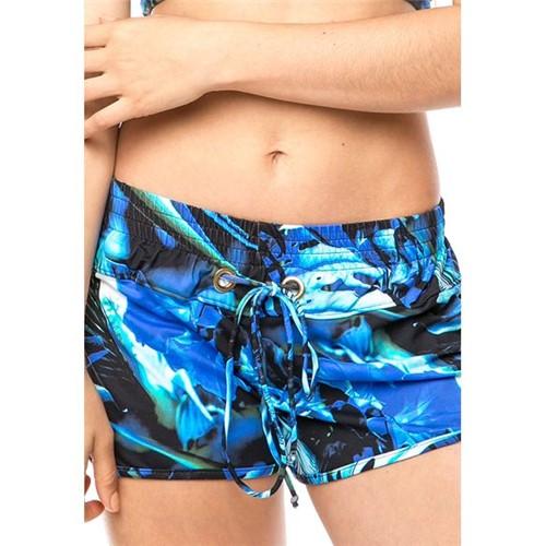 Saída de Praia Shorts com Ilhós Sonho Azul P