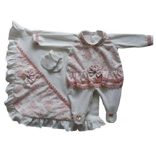 Saída Maternidade Floral Balão Kids Off White - Tam P