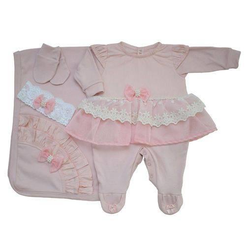 Saída Maternidade Princesa Balão Kids Rose - Tam P