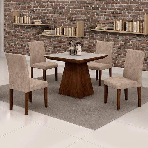 Sala de Jantar Sevilha 4 Cadeiras Classic Chocolate Pena 84
