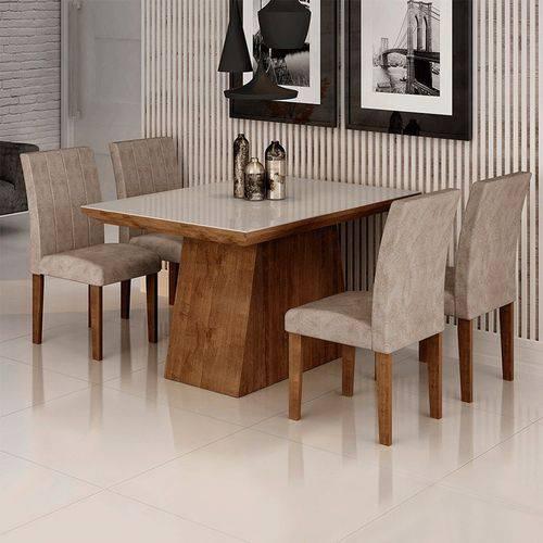 Sala de Jantar Sevilha I 4 Cadeiras Miami Chocolate Pena 84