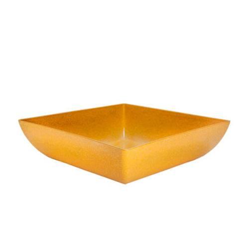Saladeira Quadrada Amarelo