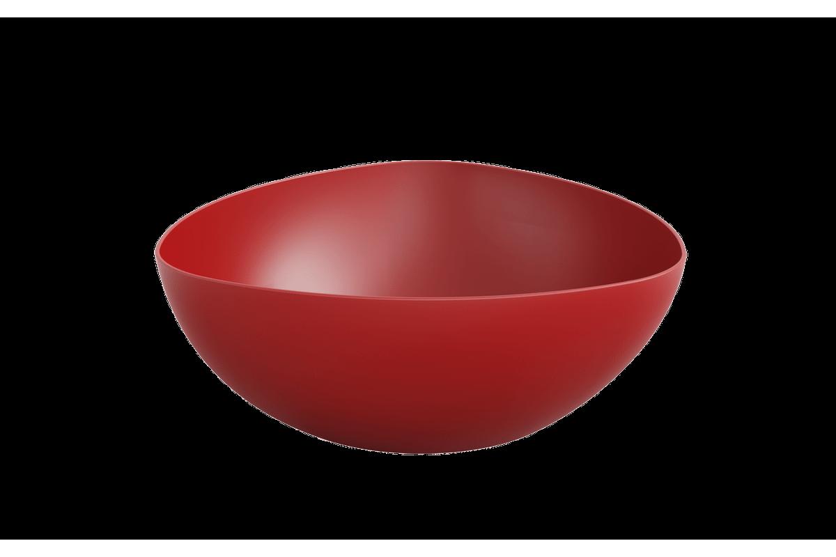 Saladeira Triangular 5,0 L Essential 31,2 X 31,2 X 11,5 Cm Vermelho Bold Coza