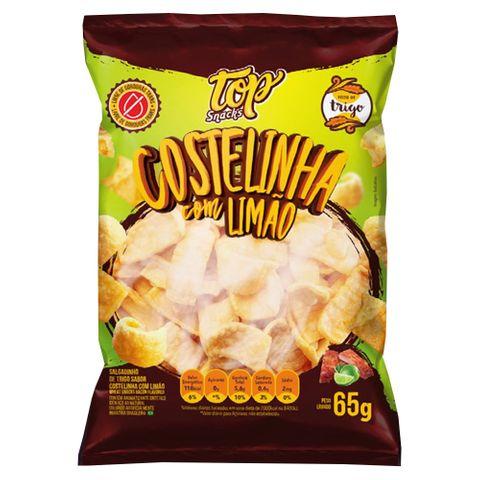 Salgadinho Costelinha com Limão 65g - Top Snacks
