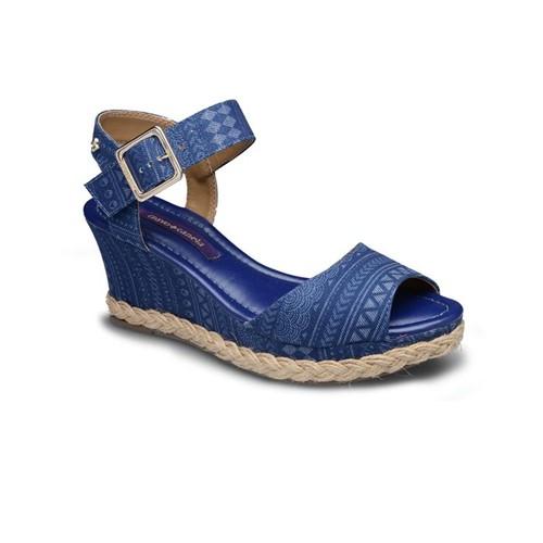 Sandália Anabela Cravo e Canela Navy Jeans 146006-3-37