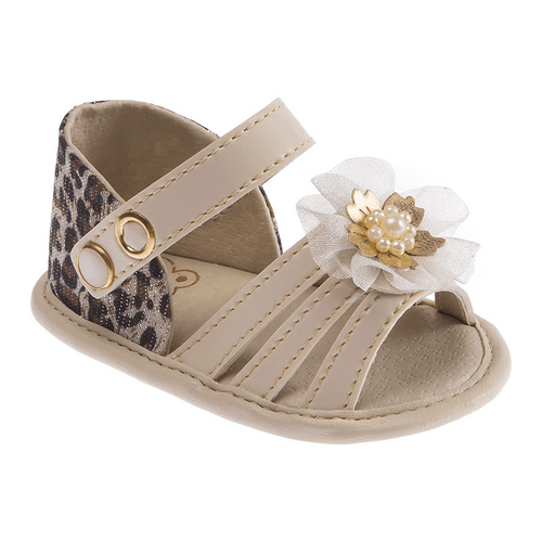 Sandália Baby Fashion Bege - 1