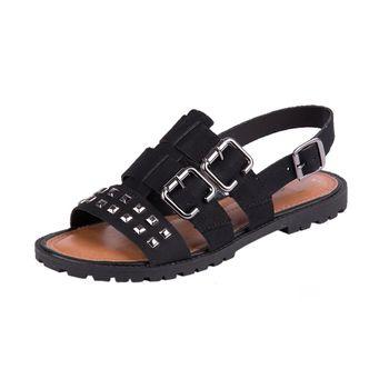 Sandália Dakota Rasteira Preto 35