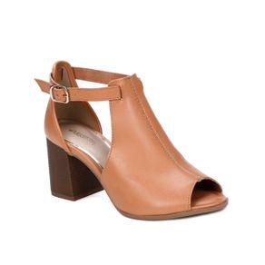 Sandália de Salto Feminina Bege 35