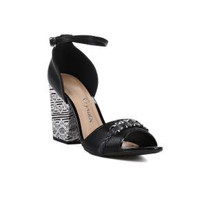 Sandália de Salto Feminina Crysalis Preto 35