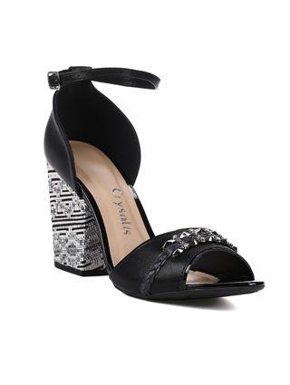 Sandália de Salto Feminina Crysalis Preto