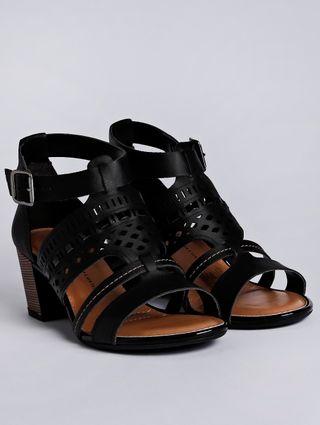 Sandália de Salto Feminina Dakota Preto