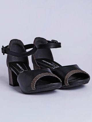 Sandália de Salto Feminina Piccadilly Preto