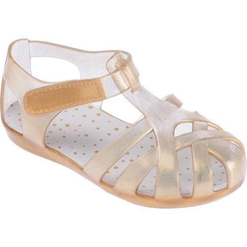 Sandália Dourada com Glitter Colorê Pimpolho