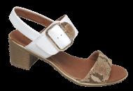 Sandália Feminina Comfortflex 1871402 Branco   Dtalhe Calçados
