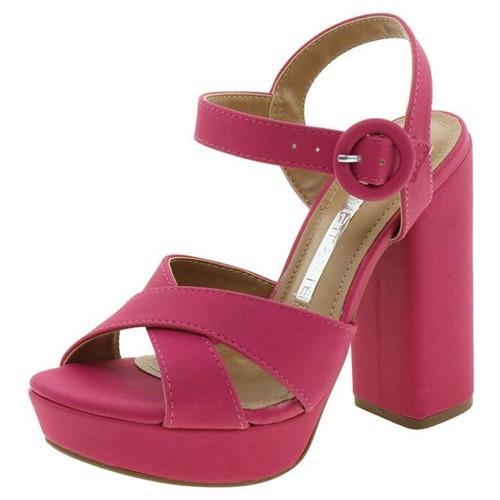 Sandália Feminina Salto Alto Pink Via Marte - 1710502
