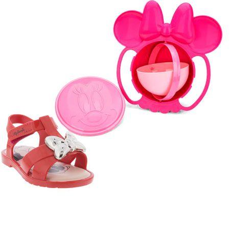 Sandália Grendene Infantil Minnie Magic Bowl Vermelha + Brinde
