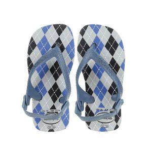 Sandália Havaianas Infantil para Bebe Menino - Cinza/azul 20