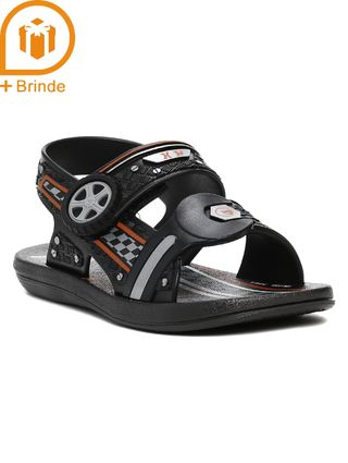 Sandália Hot Wheels Infantil para Menino - Preto