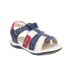 Sandália Infantil para Bebe Menino - Bege/azul 23