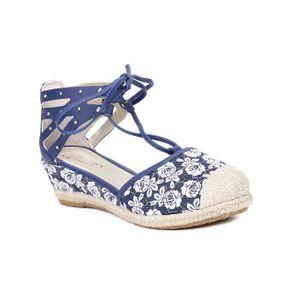 Sandália Infantil para Menina - Azul Marinho 32