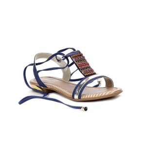 Sandália Infantil para Menina - Azul Marinho 28