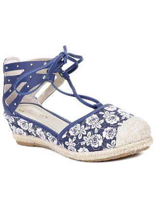 Sandália Infantil para Menina - Azul Marinho