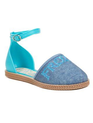 Sandália Infantil para Menina Frozen Encantada - Azul