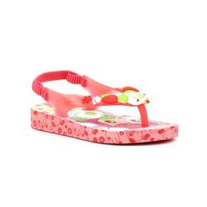 Sandália Infantil para Menina Moranguinho Pop Baby Rosa/vermelho 23/24