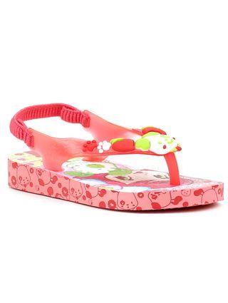 Sandália Infantil para Menina Moranguinho Pop Baby Rosa/vermelho