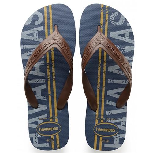 Sandália Masculina Havaianas Top Max Logomania 4141871 0089 41418710089