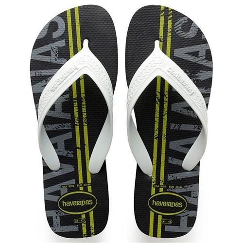 Sandália Masculina Havaianas Top Max Logomania 4141871 0090 41418710090
