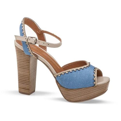 Sandalia Meia Pata Jeans Flamarian - 145175-6 JE-Jeans-35