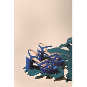 Sandália Meia Pata Tiras Azul Ribeira - 35