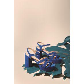 Sandália Meia Pata Tiras Azul Ribeira - 37