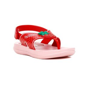 Sandália Moranguinho para Bebe Menina - Rosa/vermelho 19