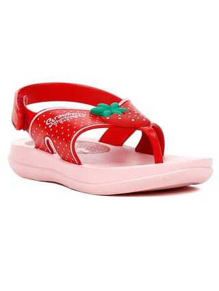 Sandália Moranguinho para Bebe Menina - Rosa/vermelho