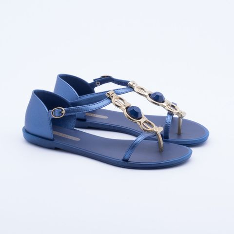 Sandália Rasteira Grendha Novatel Azul 36
