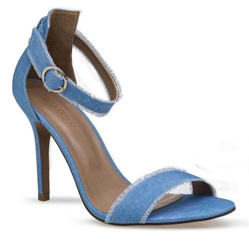 Sandalia Salto Alto Jeans Flamarian - 563176-6 JE