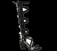 Sandália Tanara N7601 Gladiadora Preta   Dtalhe Calçados