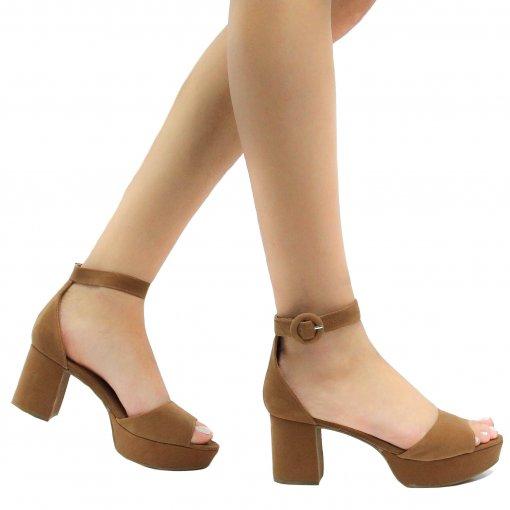 Sandália Zariff Shoes Meia Pata Nobuck 5013-549   Betisa