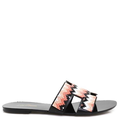 Sandália Zariff Shoes Rasteira Preto