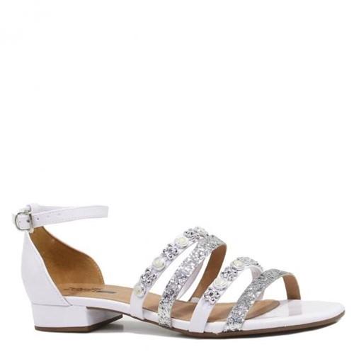 Sandália Zariff Shoes Rasteira Verniz Pedras 2514-312 | Betisa