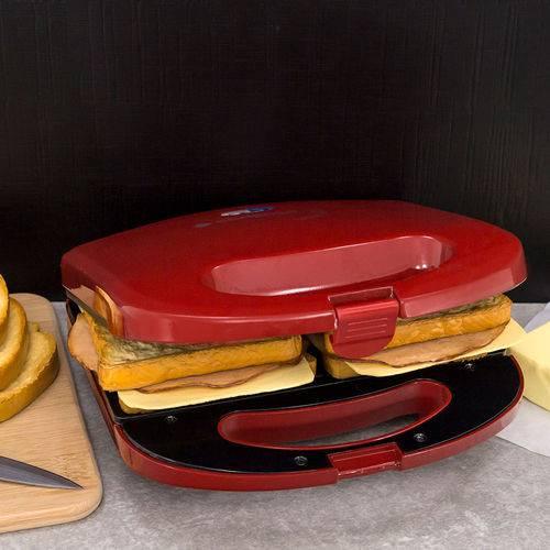 Sanduicheira e Grill Cadence Minigrill Colors Vermelha